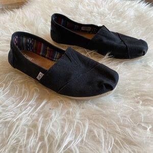 Original black TOMS shoes size 7